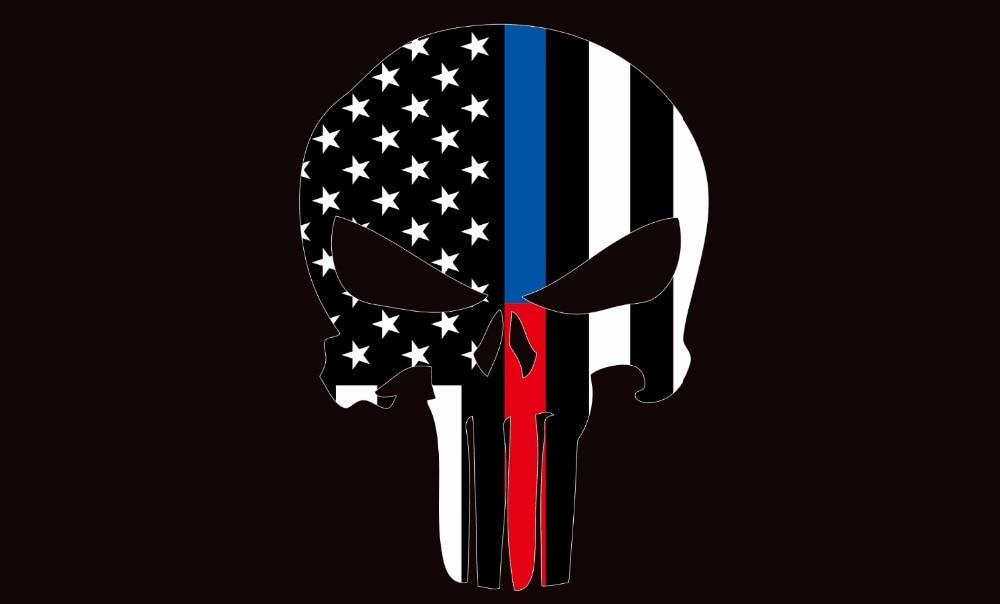 PUNISHER SKULL FLAG 3x5FT 90x150CM TWO GROMMETS