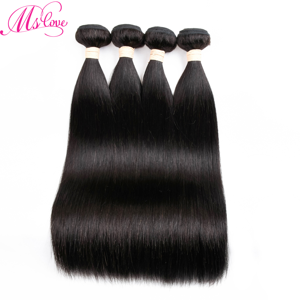 Peruvian Straight Hair Bundles 4 pcs/lot Natural Hair perruque cheveux humain Non Remy Human Hair Weave Free Shipping