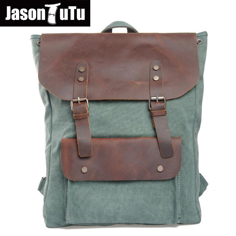 mochilas Designer Genuine Leather Bag mochila ciclismo Preppy Style multifunction men canvas bag FB1125 mochilas designer genuine leather bag mochila ciclismo preppy style multifunction men canvas bag fb1125