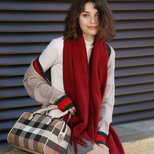 BOHOBOCO autumn winter luxury brand high-end quality thicken blend scarf shawl warmth blanket
