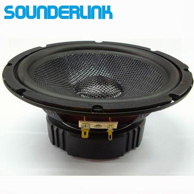 1 pcs Sounderlink 6.5 inch HiFi Full Range Speaker tweeter unit sets fiber kapton Cone