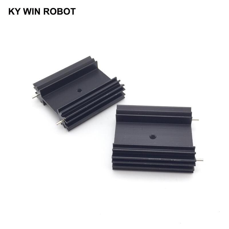 Free Shipping 2pcs/lot TO-247 Heat Sink/heat Sink For Audio 38*34*12MM Cooling Block Radiator/ Transistor Heat Sink Block