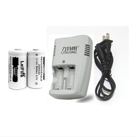 High Power 2pcs 3 7v 2200mAh CR123A Rechargeable Lithium Battery 1pcs Dedicated Charger 16340 Camera