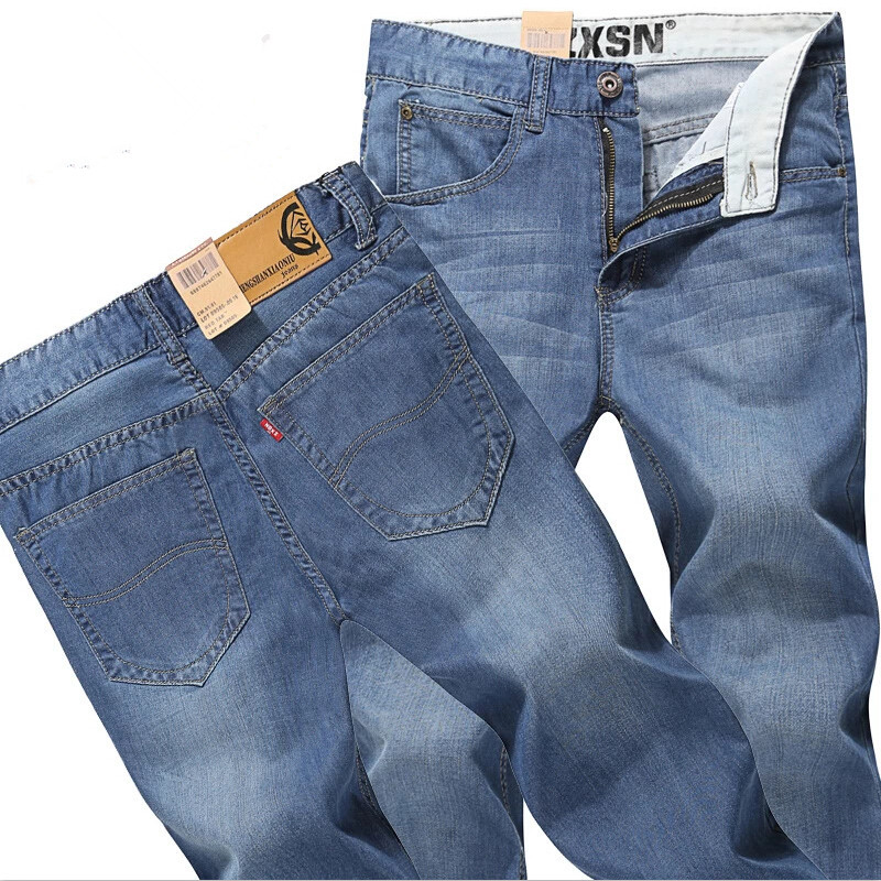 Free Shipping Blue Slim Fit Jeans Men Design New 2017 Mens Korean Fashion Denim Pants Garment Washed Retro Long Jeans