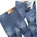 Frete Grátis Azul Slim Fit calças de Brim Dos Homens Projeto Novo 2017 Moda das Calças de Brim Dos Homens Coreano Vestuário Lavado Retro Longas Calças de Brim