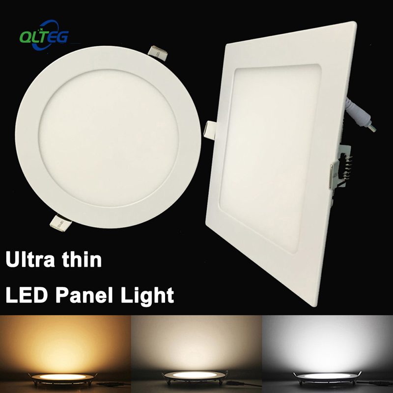 20pcs Ultra Thin LED Panel Downlight 3W 6W 9W 12W15W 18W Round Square LED Ceiling Recessed