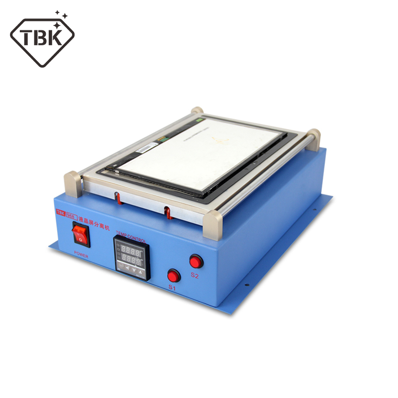 TBK-968 2in1 vacuum lcd separator machine hot plate automatic touch screen separator repair for tablet mobile