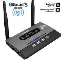 3 In 1 A Lungo Raggio Bluetooth 5.0 Trasmettitore Ricevitore NFC Adattatore Audio aptX LL HD Ottico 3.5 millimetri RCA AUX per la TV/Stereo di Casa