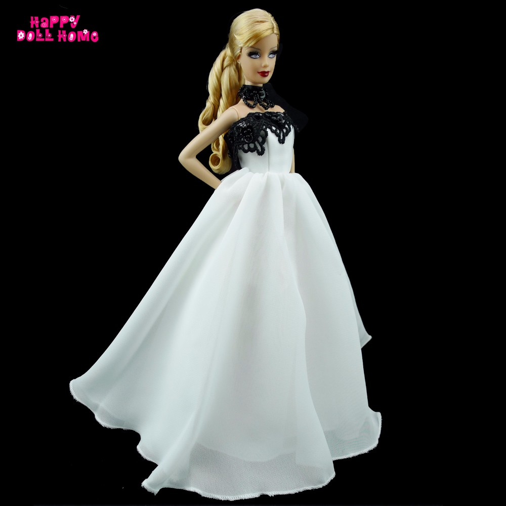 76792ec82941 Handmade Dinner Party Dress Princess Gown Outfit Clothes For Barbie ...