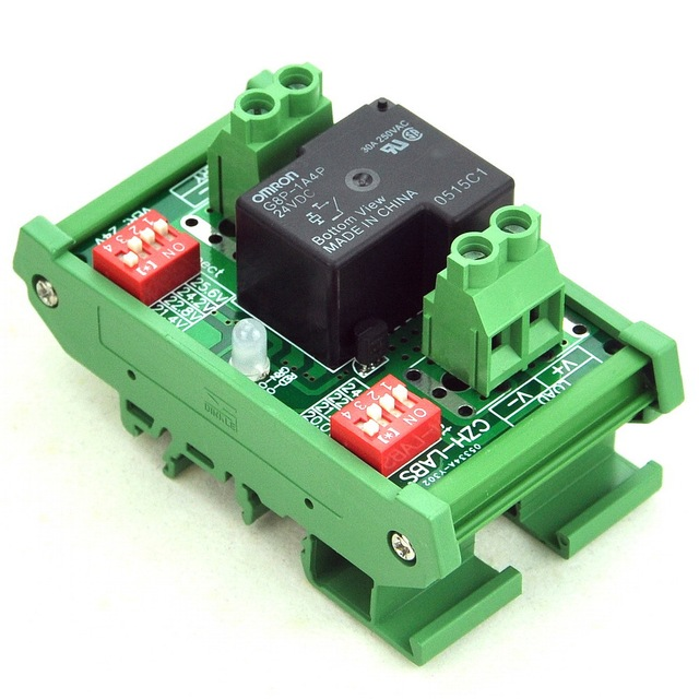 DIN Rail Mount LVD Low Voltage Disconnect Module, 24V 30A, Protect Battery.