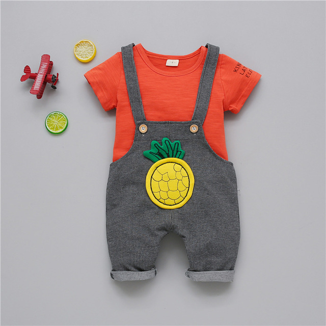 Baby Suit for Boy T-shirt Pants 2pcs Outfits Set 2019 Summer Casual Kids Tracksuit Toddler Girl Clothes Costume for The New Year