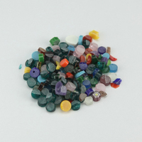 500g/Bag Colorful Fusing Glasses Mixed Beautiful Millefiori Glass Microwave Kiln Accessories for DIY Craft Decoration