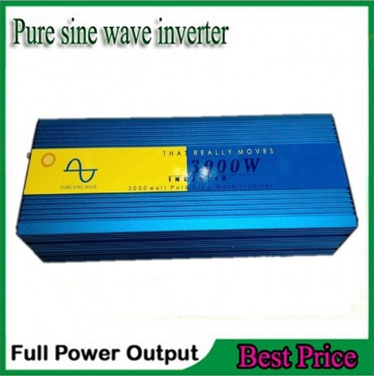 цена на Digital Display 3000W 6000W peak DC 12V to AC 220/230/240V Pure Sine wave Power inverter 3000 6000 watt Free shipping