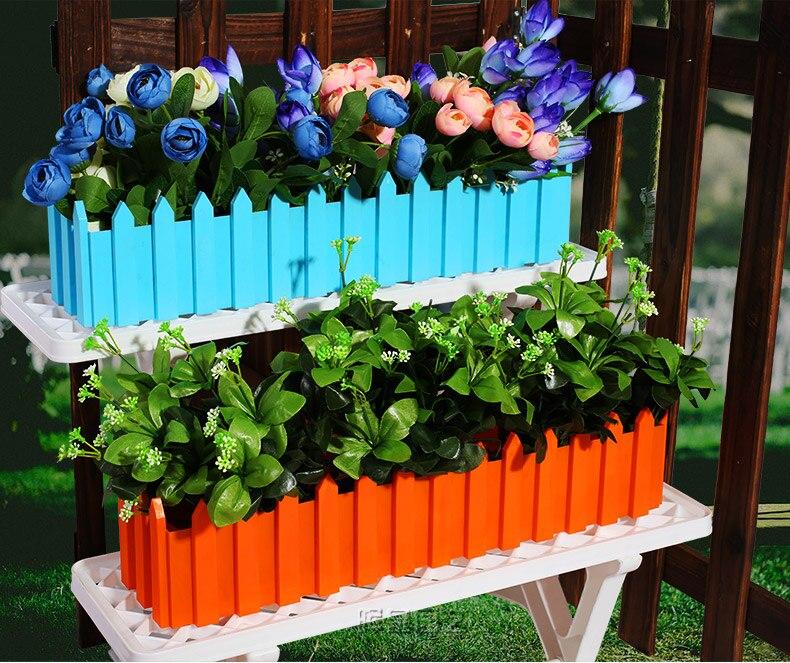 Rumah Garden Plastik Pot Bunga Rectangle Bunga Pot Tanaman Sayuran Pot Persegi Panjang Pot Bunga 5 Warna Penghijauan Dekorasi Aliexpress