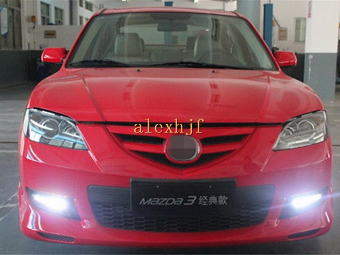 Yeats LED Daytime Running Lights DRL with Fog Lamp Cover, LED Fog Lamp case for MAZDA 3 class version 2010~13 1:1 replacement yeats led daytime running lights drl led fog lamp case for subaru forester 2013 16 deluxe edition 1 1 replacement fast shipping