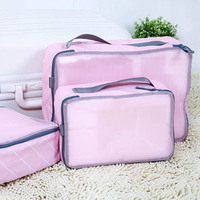 6Pcs Each Size Portable Travel Home Clothes Tidy Storage Bag Luggage Pouch Organizer Case