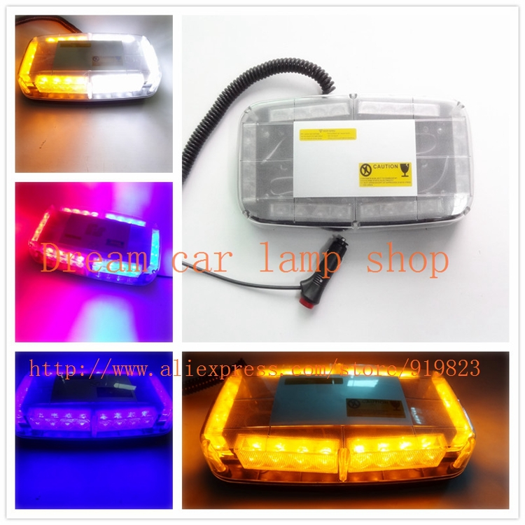 01019 Yellow Red Blue White Green Amber 24 LED Flash Warning emergency Car Light Flashing 24LED flashing warning lights люстра накладная 06 2484 0333 24 gold amber and white crystal n light