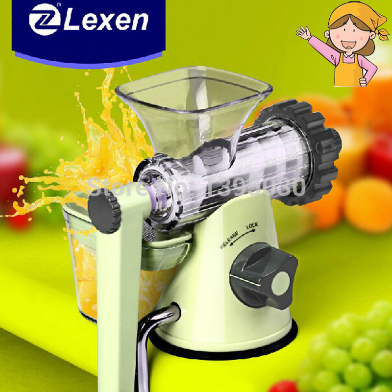 Latest Manual Lexen Wheatgrass Juicer/Healthy Fruit Juicer Machine 1 Set Round Blender healthy manual juicer for wheatgrass and fruits