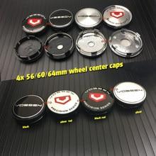 Badges autocollants de voiture, ABS, 64mm, 56mm, 60mm, 4 pièces, couvercle de Center de roue, jante de moyeu, accessoires automobiles, nouvelle collection