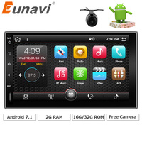 Eunavi 7 In Dash 2 Din 1024 600 Android 7 1 Car Tap PC Tablet 2din
