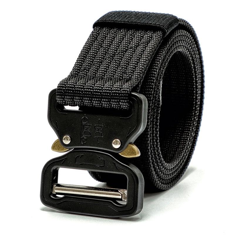 6 cor Artes Tático Heavy Duty Belt Nylon Fivela De Metal Cintura Swat Molle Acolchoado Patrol Belt Tactical Caça Acessórios