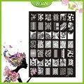 10 Unids Nuevo Diseño BQAN Acero Inoxidable Serie de Flores/Seductive Cereza Imágenes Nail Plate Estampación XY17