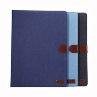 Luxury Cowboy Jeans Folio PU Leather Skin Sleeve Protective Pouch Case Cover Stand Card Holder For