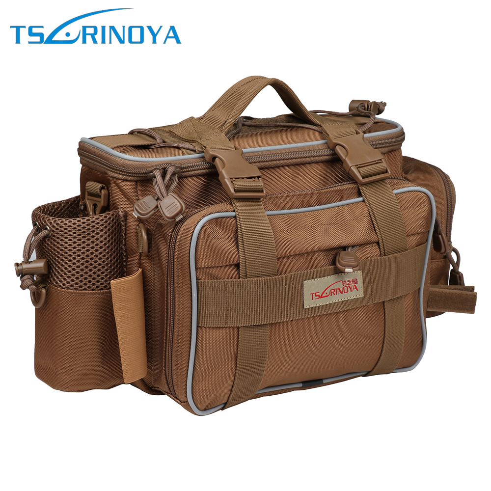 Tsurinoya Y7 Multifunctional Lure Bag Outdoor Waterproof Backpack Bag 40*15*19cm 600D Fishing Tackle Accessories camouflage outdoor fishing chairs bag foldable 600d oxford peva waterproof layer cool fishing bag multifunctional sport backpack