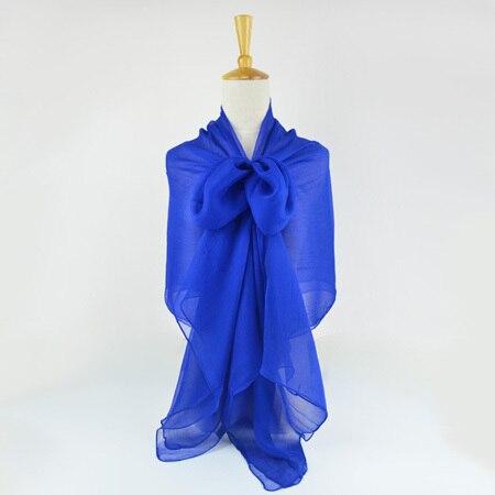 Жатый шелк жоржетовый длинный шарф 110 см X 180 см Чистый шелковый шарф женский однотонный цвет изделия из шифона в большом размере шарф - Цвет: 03