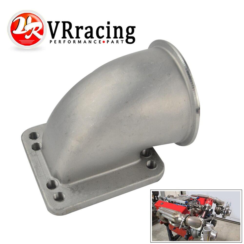 VR 3.0 Vband 90 Degree Cast Turbo Elbow Adapter Flange 304 Stainless Steel For T3 T4 Turbocharger VR TEA30