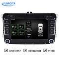 Бесплатная Доставка 7 дюймов Quad Core Android Dvd-плеер Автомобиля Навигации Can Bus для VW Volkswagen Golf Passat Сиденья RNS510 OEM Аудио GPS