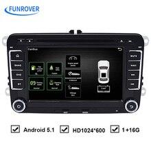 O Envio gratuito de 7 polegada Quad Core Android DVD Player Do Carro de Navegação Can Bus para VW Volkswagen Passat Golf Assento RNS510 OEM Áudio GPS