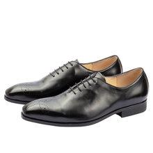 85407982 Vestido de los hombres zapatos de cuero de Punta Brogue Semi vestido negro  Formal vestido Formal hombre amarillo boda Oxford dis.