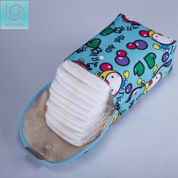 Lekebaby bébé sacs à couches imprimé Double fermeture à glissière sac humide/sec imperméable à l