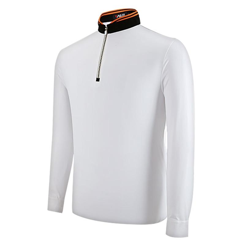 PGM Golf Clothing Mens Top Polo Shirts New Breathable Elastic Full Sleeve Uniforms Tshirts Ropa De Golf Men Table Tennis Shirt