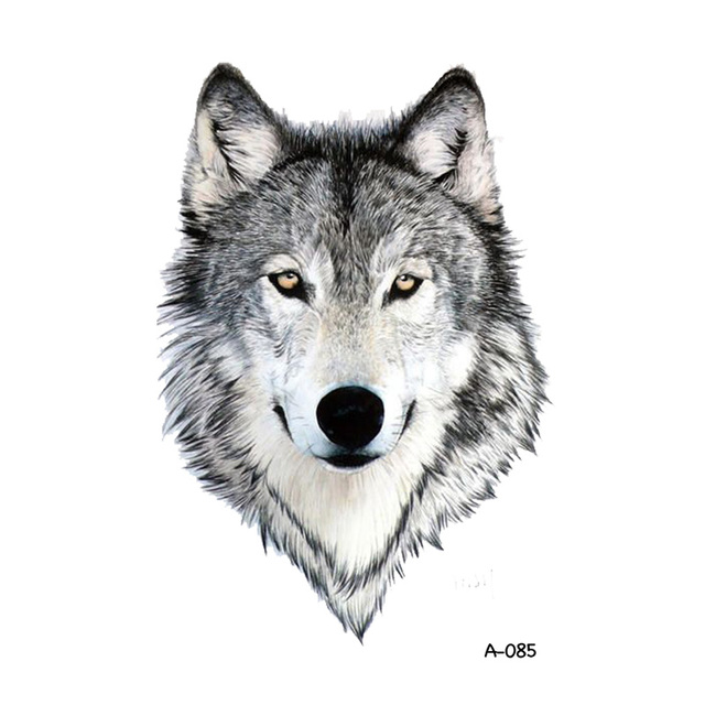 Wyuen Loup Conception Tatouage Temporaire Pour Adultes Etanche Tatoo