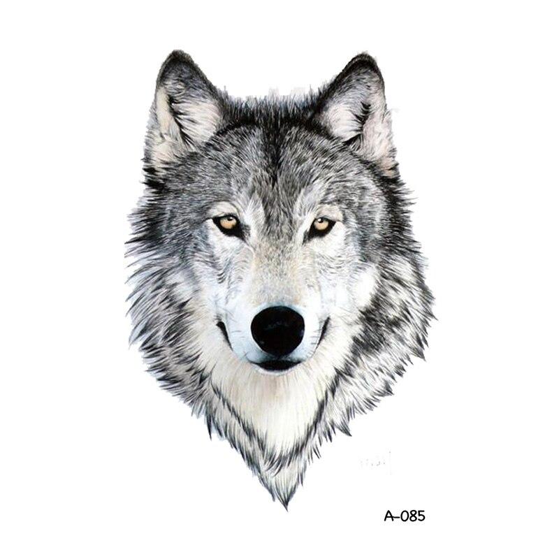 Wolf Woman Tattoo By Otheser Tattoo: Aliexpress.com : Buy WYUEN Wolf Design Temporary Tattoo