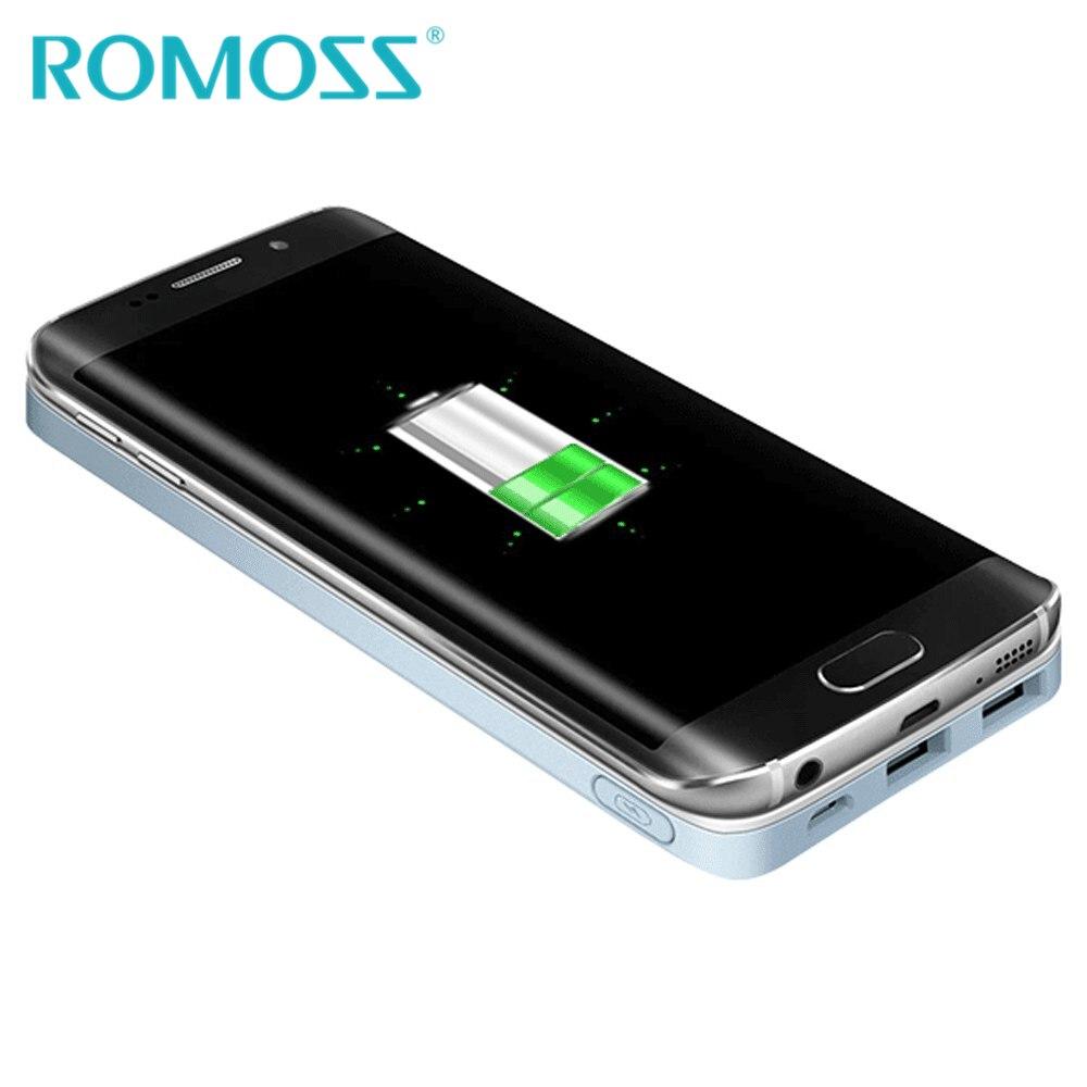 imágenes para Nueva Original ROMOSS Banco de la Energía 5000 mAh Teléfono Inalámbrico Cargador de Carga de Energía de Respaldo Batería Externa Powerbank para Samsung