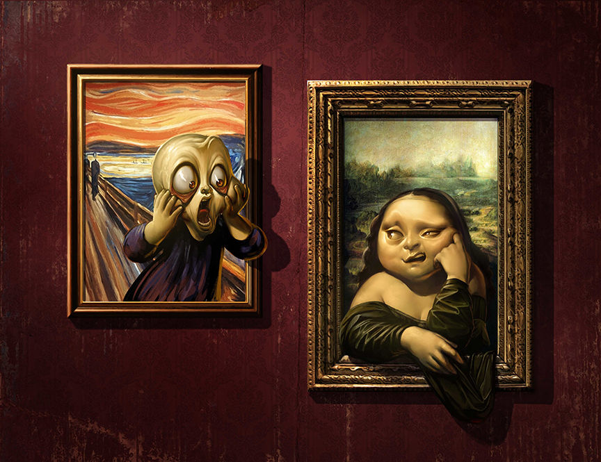 Home Art Wall Decor Mona Lisa y Scream Pintura al óleo Imagen - Decoración del hogar - foto 1