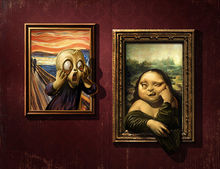 Home Art Wall Decor Mona Lisa And Scream Oil Painting Picture Printed On Canvas Home Decoration