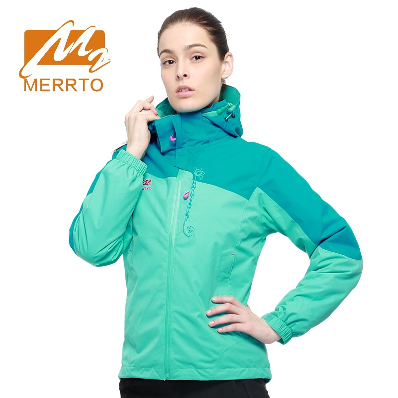 2018 Merrto Womens Hiking Jackets Outdoor Sports Jackets Windproof Waterproof Camping Jackets For Women Free Shipping MT19125 2017 merrto womens fleece hiking jackets mountain clothing thermal color blue pink rose green for women free shipping mt19155