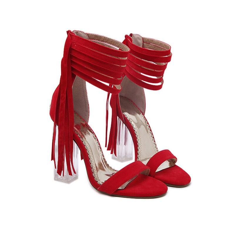 High Aus Strap Sommer Sexy Verschluss 3 Sandalen Heels Wählen Zipper up Super Ankle Frau 8cm Farben Hohe Themost Zu RxtwUS0qS