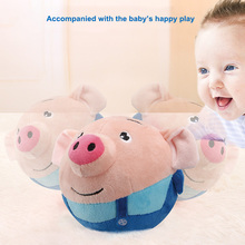 Cartoon Ball Electric Plush Toys Jump Ball Learn Stool Beating Sing Jumping Baby Kids Pig Toys YH-17