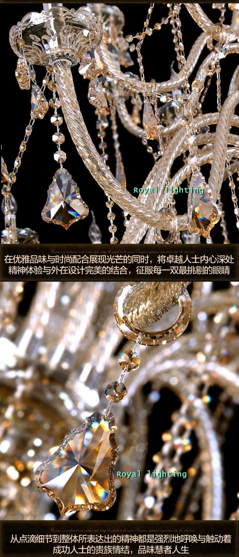 Bohemian 32-42 stk Cognac lysekrone krystalbelysning til kirke - Indendørs belysning - Foto 6