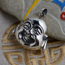 [Maitreya] deer King silver Buddha Pendant S925 sterling silver silver wholesale antique style Buddha