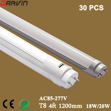 T8 Led Tube Light 4ft 1200mm 18W 20W light AC85-277V Led Fluorescent Tube Lamp Free Shipping 110V 220V 96 Leds SMD2835