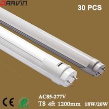 T8 Led Tube Light 4ft 1200mm 18W 20W light AC85-277V Led Fluorescent Tube Lamp Free Shipping 110V 220V 96 Leds SMD2835