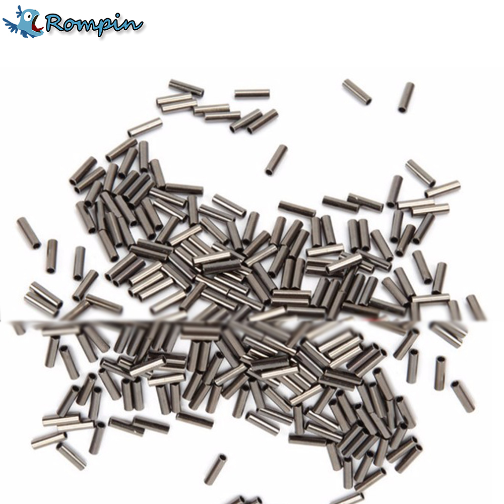 Rompin 100pcs bag stainless steel steel fishing for Fishing line crimps