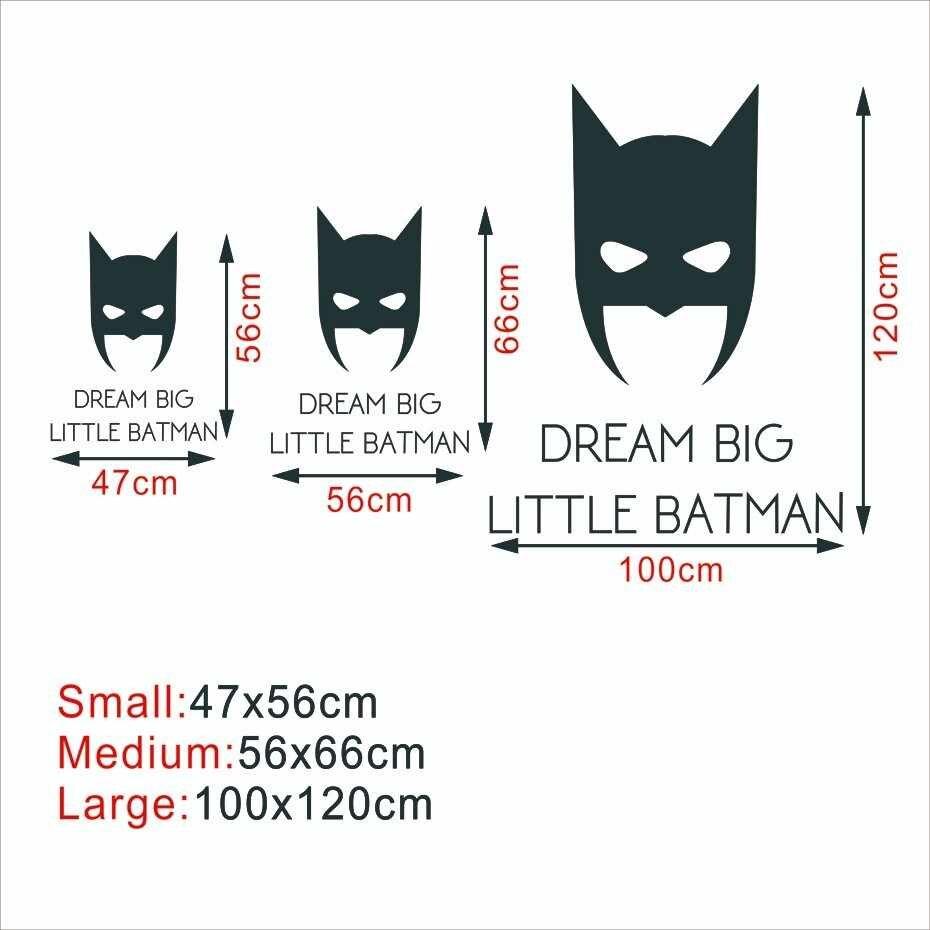 Detail Feedback Questions About Cartoon Dream Big Little Batman Wall