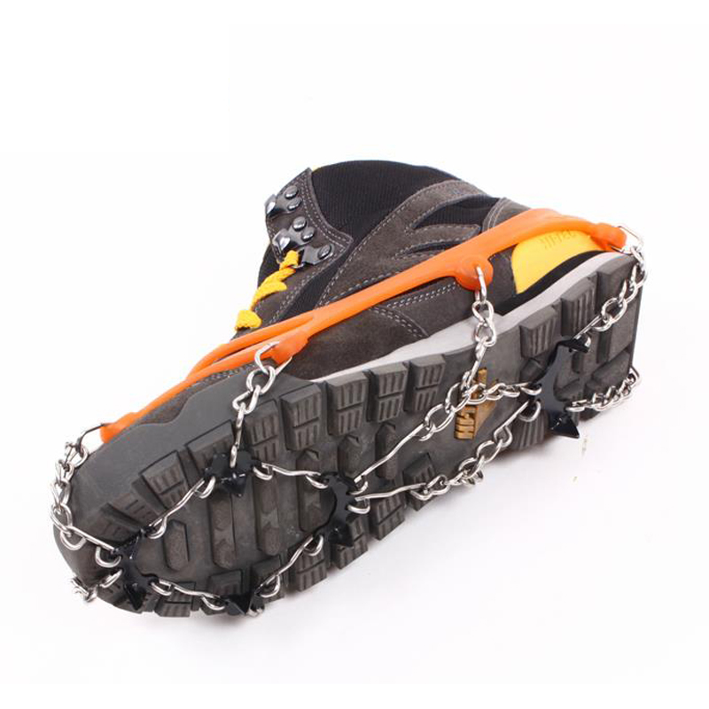 Hewolf 8 Teeth Outdoor Ice Snow Spikes Climbing Crampons Equipment Mountaineering Gear Anti Slip Shoes Grippers Claws Chains DBO